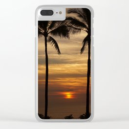 Watching The Setting Sun Clear iPhone Case