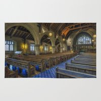 christ Area & Throw Rugs featuring Christ Church by Ian Mitchell