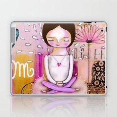 Om meditation woman Laptop & iPad Skin