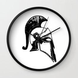 spartan helm Wall Clock