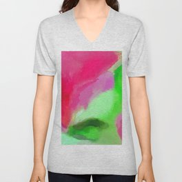Abstract Watercolor - Watermelon Colors 2020 Unisex V-Neck