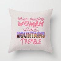 When Sleeping Women Wake Throw Pillow