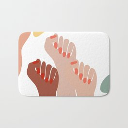 We persist - Girls hands - girlpower  Bath Mat
