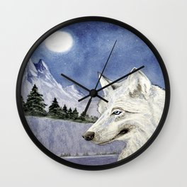 The Lone Wolf Wall Clock