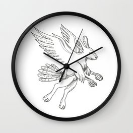 Skvader Flying Doodle Wall Clock