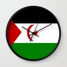 Flag of Western Sahara Wall Clock