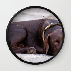 the hound dog Wall Clock
