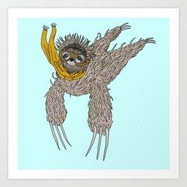 Impulsive Sloth Art Print