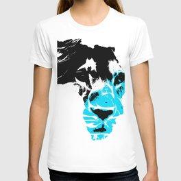 Lion Heart Africa Aqua Blue T-shirt