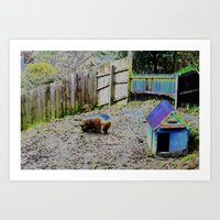 pigs Art Prints featuring Pigs by Vanitylife