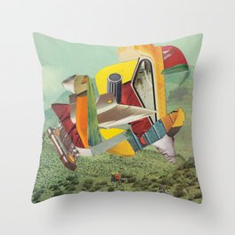A normal day Throw Pillow