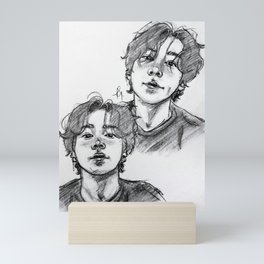 Jungkook long hair Mini Art Print