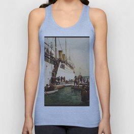 Boarding the Ship - vintage photograph Unisex Tank Top