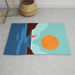 Abstraction_SUNSET_BEACH_OCEAN_Minimalism_001 Rug