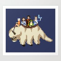 appa Art Prints featuring The Gaang by NeleVdM