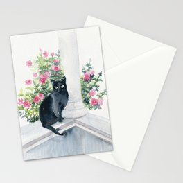Guard Cat On Duty Stationery Cards