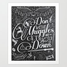 Don't let the Muggles Get You Down Art Print