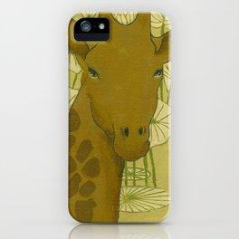 conceive-believe-achieve. giraffe portrait iPhone Case