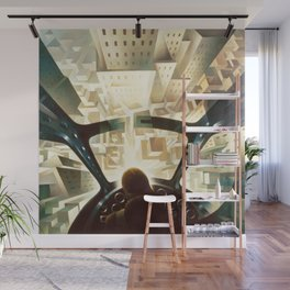 Nose Dive Into the City by T. Crali Wall Mural