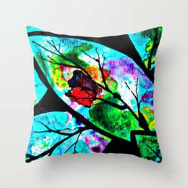 The connection between multicolored atoms Throw Pillow