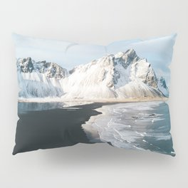 Iceland Mountain Beach - Landscape Photography Pillow Sham