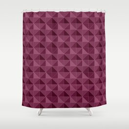 Pink Triangles pattern Shower Curtain