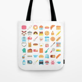 CUTE BAKERY PATTERN (CUTE CHEF BAKER) Tote Bag