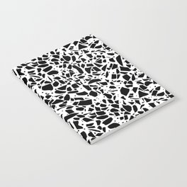 Terrazzo Spot 2 Black on White Notebook
