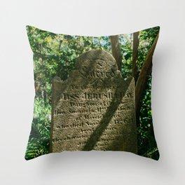 Charleston Unitarian Church Cemetery VII Throw Pillow