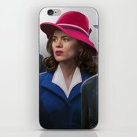 agent carter iPhone & iPod Skins featuring Agent Carter by DandyBee