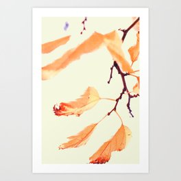 Autumn leaves watercolor painting #1 Art Print