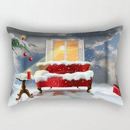 The desire for a white Christmas Rectangular Pillow