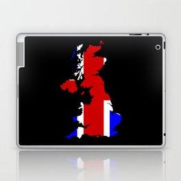 UK Flag and Silhouette Laptop & iPad Skin