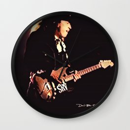 Stevie Ray Vaughan - Graphic 3 Wall Clock