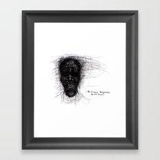 Scribble Face Framed Art Print
