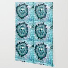 Teal Agate Wallpaper