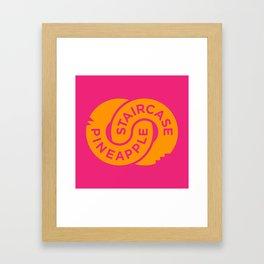 Pineapple Staircase  |  Official Logo in Pink/Orange Framed Art Print