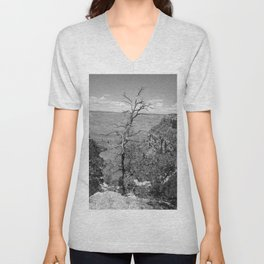 Black & White Tree Unisex V-Neck