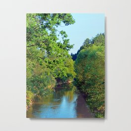 A summer evening along the river III | waterscape photography Metal Print