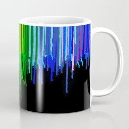 Rainbow Paint Drops on Black Coffee Mug