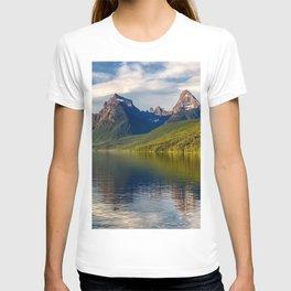 Lake McDonald mountain lake forest mountain landscape Glacier National Park British Columbia Canada Montana USA T-shirt