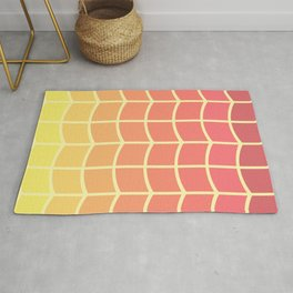 Abstract pastel waves Rug