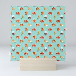 Foodie sweet & savory pattern Mini Art Print