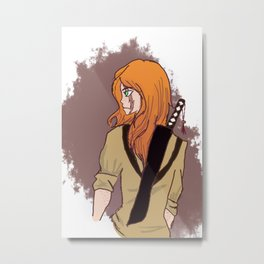 Behind the eyes is an actual person Metal Print