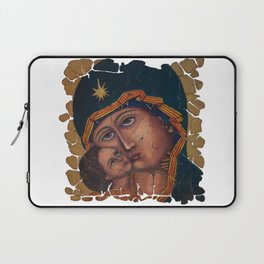 Mother Of God by OLena Art Laptop Sleeve