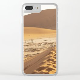 Deadvlei - (Sossusvlei) white clay pan in the Namib-Naukluft Park, Namibia Clear iPhone Case