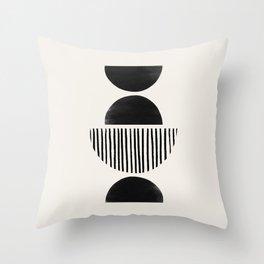 Balancing Moons in Black #2 Throw Pillow