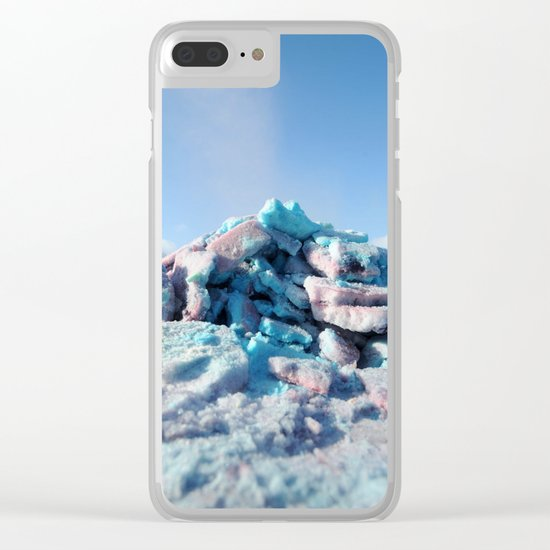 Having Fun in the Winter - Colored Snow #1 #art #society6 Clear iPhone Case