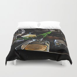 The Leaning Flower of Pisa Duvet Cover