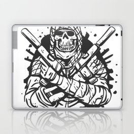 Military skull with guns Laptop & iPad Skin